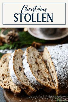 Stollen Bread, German Stollen, Stollen Recipe, Dried Cherries, Dried Cranberries, Homemade Christmas Gifts, Christmas Recipes, German Recipes, German Christmas