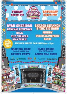 Really looking forward to another great Sligo Summer Festival Free Opening, August 9, Rude Boy, Soap Boxes, Best Western, Upcoming Events, Musicals, Car Park, The Originals