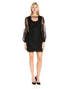 fa9062551af Chic Trina Turk Women s Tipsy Delicate Floral Lace Long Sleeve Dress  online.   213.99