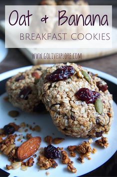 Oat & Banana Healthy Breakfast Cookies   Go Live Explore