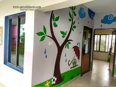3d Wall Painting, Cartoon Painting, Texture Painting, Classroom Wall Decor, Classroom Walls, Blur Background Photography, School Painting, School Decorations, Stencil Designs