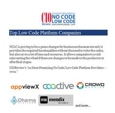 Top No Code/Low Code Companies - Technology Blog 1 - Medium No Response, Coding, Technology, Writing, Medium, Blog, Tech, Tecnologia, Blogging