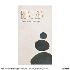 Zen Stones Massage Therapist & Meditation Teacher Business Card