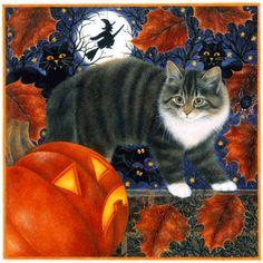 Anne Mortimer Halloween Kitty