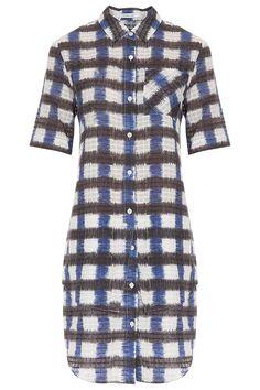 Plaid Shirt Dress By 10 CROSBY DEREK LAM @ http://www.boutique1.com/