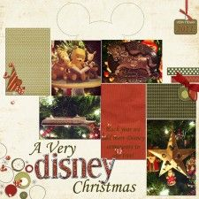 A Very Disney Christmas - MouseScrappers - Disney Scrapbooking Gallery