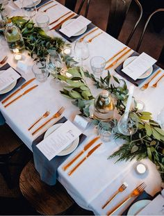 Unique wedding table settings, gold tableware and greenery, wedding centerpieces, spring wedding ideas wedding table settings Wedding Invites Paper Wedding Hire, Diy Wedding, Wedding Reception, Rustic Wedding, Wedding Flowers, Wedding Planning, Wedding Day, Spring Wedding, Wedding Tables
