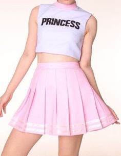 please allow package to arrive within 5 weeks from the day you place an order. Glitters For Dinner Original Team Princess Cheerleading Set Amazing . Harajuku Mode, Harajuku Fashion, Kawaii Fashion, Cute Fashion, Teen Fashion, Korean Fashion, Fashion Outfits, Cheerleader Rock, Cheerleader Costume