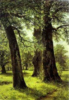 Ivan Shishkin (1832-1898) #landscape #tree #art