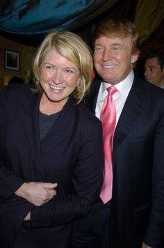 Martha Stewart and Donald Trump during 'Sirio The Story of My Life' and 'Le Cirque' by Sirio Maccioni and Peter Elliot Book Party at Le Cirque in New...
