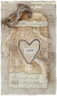 love tag--so many beautiful ideas for  using my antique post cards!!!
