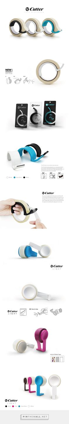 Not that I like tape dispensers anymore or anything.but this is pretty dope. Web Design, Layout Design, Graphic Design, Clever Design, Cool Designs, Ecole Design, Design Industrial, Gadgets, Tape Dispenser