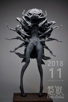 Monster Design, Monster Art, Arte Horror, Horror Art, Alien Creatures, Fantasy Creatures, Creature Feature, Creature Design, Dark Fantasy