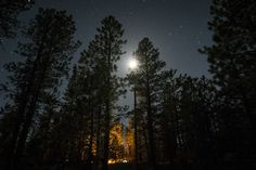 Bryce Canyon Campground.  Long Exposure.