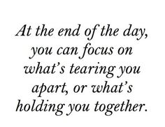 What's holding you together
