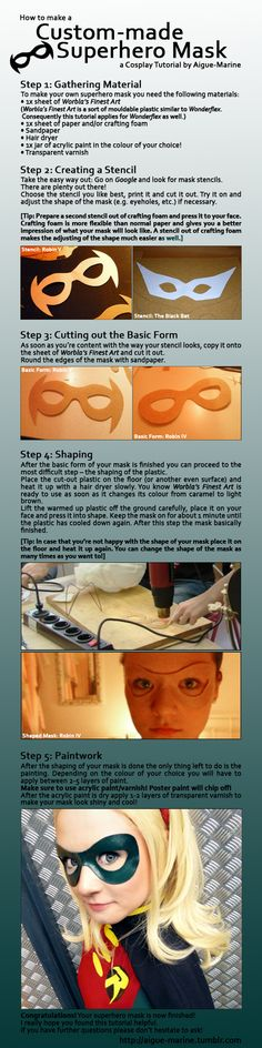 Tutorial: Custom-made Superhero Mask by Aigue-Marine - Good to know!!!