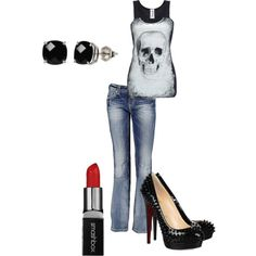 A fashion look from July 2012 featuring Miss Me jeans and Christian Louboutin pumps. Browse and shop related looks.