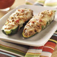 Beef-Stuffed Zucchini Recipe Recipe