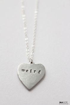 BLK AND NOIR JEWELRY - Weird Heart Necklace, $20.00 (http://www.blkandnoir.com/weird-heart-necklace/)