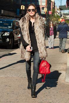 Mai e la moda vesta din blana? Olivia Palermo iti raspunde!