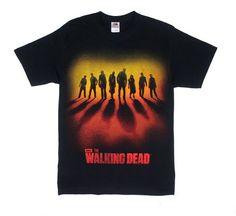 The Walking Dead Walker Sunset Line Up Adult Black T-shirt S @ niftywarehouse.com #NiftyWarehouse #WalkingDead #Zombie #Zombies #TV