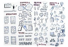 This is tips for beginner sketchnoters with the basic elements useful while sketchnoting - structure, frames and lines, type, people and fac...
