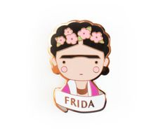 Items similar to Frida Kahlo brooch or magnet - mexican painter - surrealism - eyebrows on Etsy