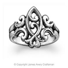 LOVE this scrolled ichthus ring from James Avery!