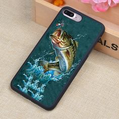 fishing Printed Soft TPU Protective Shell Skin Phone Case For iPhone 6 6S Plus 7 7 Plus 5 5S 5C SE 4 4S Cases Back Cover
