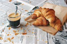 Coffee and croissant. #morning #espresso #romantic #espresso