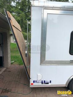 Licensed 2016 - 8.5' x 16' Food Concession Trailer | Used Mobile Kitchen for Sale in Wisconsin Kitchen Units For Sale, Kitchen Sale, Food Trailer For Sale, Trailers For Sale, Cooking Equipment, Food Service Equipment, Commercial Popcorn Machine, Street Food Business, Concession Trailer For Sale