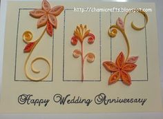 Chami Crafts - Handmade Greeting Cards: Wedding Anniversary card with pop-up!!!