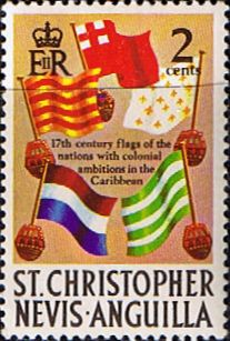 1970 St Christopher Nevis Anguilla SG 208 Naval flags Fine Mint Scott 209 Other Stamps of St Kitts Nevis HERE