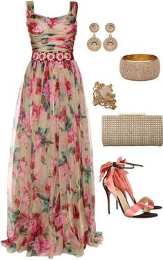 Breathtaking Floral Outfit Ideas for All Seasons 2018 - The Best Floral Outfits Summer Dress Outfits, Summer Outfits Women, Spring Dresses, Spring Outfits, Floral Outfits, Maxi Outfits, Floral Skirts, Floral Maxi, Summer Clothes