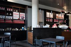 Surrey City Hall Café - with tons of great seating options for you to relax and 'take five' for yourself.