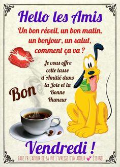 C'est Bon, Winnie The Pooh, Disney Characters, Plan Plan, Detox Plan, Minions, Good Morning Friday Images, Friday Images, Friday Morning