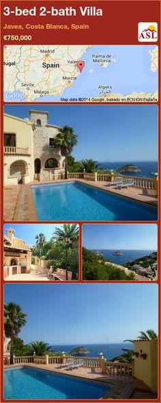 3-bed 2-bath Villa in Javea, Costa Blanca, Spain ►€750,000 #PropertyForSaleInSpain