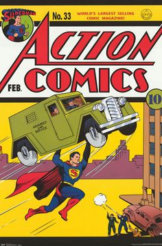 A great poster of the fantastic cover art from Action Comics #33 featuring the Man of Steel - DC Comics superhero Superman! Fully licensed. Ships fast. 22x34 inches. Check out the rest of our super se