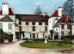 Maurice Utrillo The House Of The Spanish Infante In Bourg-la-reine oil painting reproductions for sale