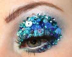Sequins - Eyeshadow. Not very practical but would look really interesting in a photo