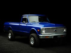 Chevrolet c-10 72. Someday I will be that cool mom coming to pick her kids up from school in this! Yup someday!