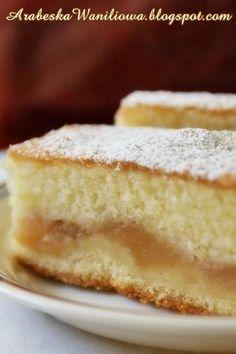 Apple Cake Recipes, Baking Recipes, Dessert Recipes, Polish Desserts, Polish Recipes, Polish Food, Good Food, Yummy Food, Christmas Cupcakes