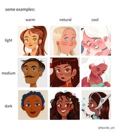 Since people asked, here are some tips that have helped me to color POC skin, hopefully this helps people out who want to diversify their work! (1/2)pic.twitter.com/sleufRPOW2