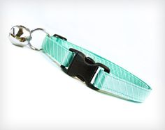 """Breakfast at Tiffany's"" Cat / Kitten Collar - Robin's Egg Blue - by MadeByCleo, $12.00"