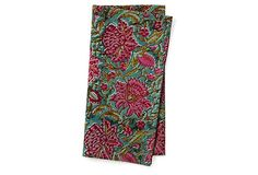 Set of 4 Floral Napkins on OneKingsLane.com