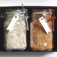 DIY toasted seasoning salt for you or it makes a great b-day gift
