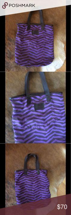 Marc by Marc Jacobs Nylon Tote LikeNew! Nylon Tote by Marc by Marc Jacobs in purple/brown. Measurements: w:16\