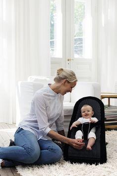 BABYBJÖRN Babysitter Balance (Schwarz/Silber, Baumwollmischgewebe): Amazon.de: Baby
