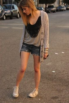 I don't care what anyone says, I'm going to wear a cardi with shorts this summer...