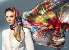 Aker Eşarp / Scarf - 2012 S/S #aker #scarf #esarp #hijab #fashion #silk #scarves #moda #hijab #tesettur #model #mode #style #pattern #babushka #kerchief #shawl #wrapper #trend #aker #akeresarp #akerscarf